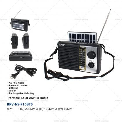 NNS NS-F10BTS PORTABLE SOLAR AM/FM RADIO