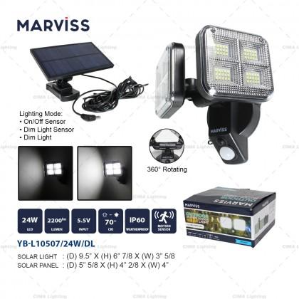 MARVISS YB-L10507 24W OUTDOOR MOTION SENSOR SOLAR LIGHT