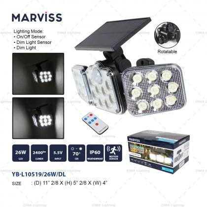 MARVISS YB-L10519 26W OUTDOOR MOTION SENSOR SOLAR LIGHT