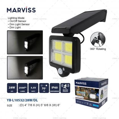 MARVISS YB-L10532 28W OUTDOOR MOTION SENSOR SOLAR LIGHT