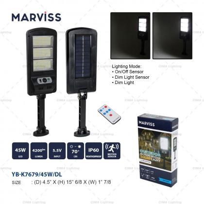 MARVISS YB-K7679 45W OUTDOOR MOTION SENSOR SOLAR LIGHT