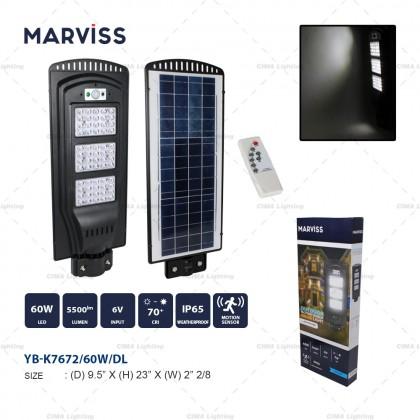 MARVISS YB-K7672 60W OUTDOOR MOTION SENSOR SOLAR LIGHT