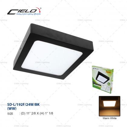 CIELO 12W/18W/24W ROUND/SQUARE BLACK/WHITE LED SURFACE DOWNLIGHT